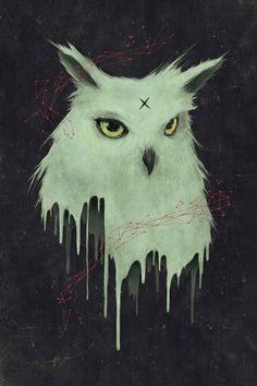 Melting Owl by tetsoo, via Behance Global Warming Poster, Character Art, Character Design, Owl Illustration, Illustrations, School Murals, Expressive Art, Graphic Art, Art Drawings
