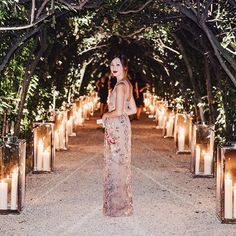 A secret garden party and dinner last night underneath the moonlight in Rome wearing @maisonvalentino of course  #NicolesNetSetDiary #MirabiliaRomae