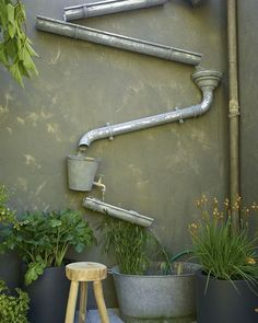 For your garden !   By Yourhouseandgarden  #garden #jardin #printemps #spring #gutter #l4l #style #awesome #diy #reuse #reusing #reclaimed #upcycle #upcycled #recycle #recycled #recycling #recyclideas by recyclideas