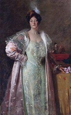 Title: Portrait of Miss J., c.1902 Artist: William Merritt Chase Medium: Hand-Painted Art Reproduction