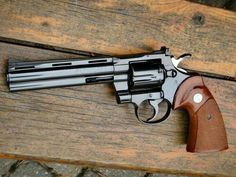 Colt Python magnum 6 in. barrel - The Rolls Royce of Revolvers. Weapons Guns, Guns And Ammo, Rifles, Colt Python, Revolver Pistol, 357 Magnum, Cool Guns, Shotgun, Airsoft