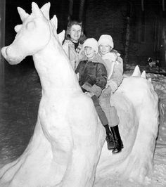 From the Archives: Omaha family sculpts impressive Puff the Magic Dragon from snow in 1976