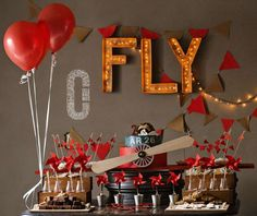 Vintage airplane Birthday Party Ideas | Photo 3 of 21