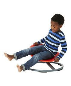 Love this Red & Gray Spinning Carousel Seat on #zulily! #zulilyfinds