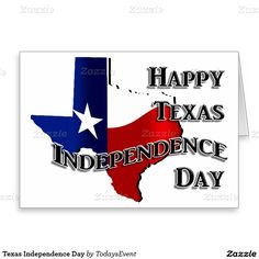 Texas Independence Day Stationery Note Card by TodaysEvent  - #gravityx9