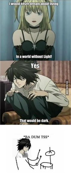I love it when people make Death Note funny& that show is so not funny & creepy, yes; funny, no. The post Just Death Note appeared first on Anime Memes. Death Note デスノート, Death Note Funny, L From Death Note, Death Note Fanart, Death Note Light, Funny Note, Anime Ai, Film Anime, 9gag Funny