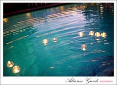 candles in pool