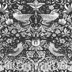 William Morris Strawberry Grey and  White