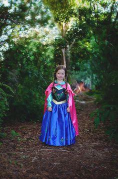 Girl/'s Authentic Disney Frozen Anna Dress Play Dress Up》Size 4-6x