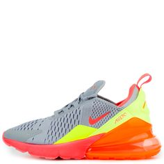 timeless design d8346 3046b Nike air max 270 (gs) wolf grey hot punch-total orange