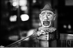 "Picture-A-Day (PAD n.2220) ""Sunday Clown"" ~Amy, DangRabbit Photography Antique clown, Long Island, NY"