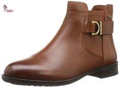 Clarks Mint Jam Gtx, Boots femme, Marron (Dark Tan), 35.5 - Chaussures clarks (*Partner-Link)