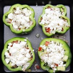 Stuffed Peppers 3 Ways! Whether you prefer classic ground beef, buffalo chicken or vegetables, you're guaranteed to love at least one of these stuffed peppers!