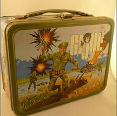 1967 GI JOE Metal Lunch Box With Thermos by kitschnswell on Etsy, $135.00