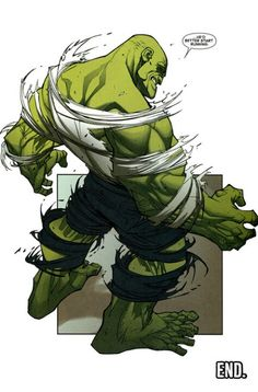 Go ahead, make a comment about the Hulk being bald. Go on, I'll wait...