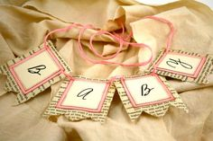 Baby Shower Banners / Decorations, Pink Baby Girl Vintage Book Page Winnie the Pooh Banner on Etsy, $25.00