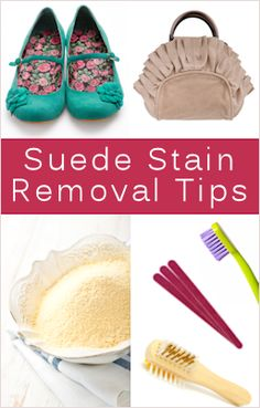 Suede stain removal tips
