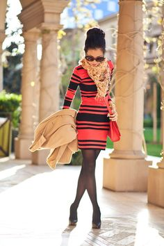 Scarlet :: Red stripes...I LOVE this <3