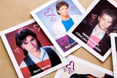 You need to use this printable project to make these '90s heartthrob Valentine's Day cards as last-minute gifts for your BFFs.