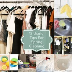 Spring Cleaning: 12 Things to Do to Spruce Up Your Home Washing machine, ceiling fan, grout scrub, closets, microwave, windows and window tracks, mattress refresh, stove burners, between the glass in your oven door (!), garbage disposal, carpet, and clean the inside and outside of your fridge.