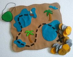 Pirate Felt Playset by FashionableLore on Etsy, $20.00