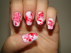 Unhas da Semana - Blood Nails