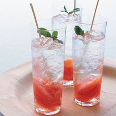 Campari Mojito -  1 part Campari  ½ part lime mint  2 tablespoons brown sugar  Splash of sparkling water
