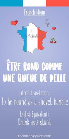 French idiom etre rond comme une queue de pelle