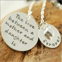 The love between a mother and daughter is. Love you Mom and Baby Girl Karmyn! I Love My Daughter, My Beautiful Daughter, Future Daughter, Mother Daughters, Mother Mother, Beautiful Children, Hand Stamped Necklace, Dog Tag Necklace, Mommy Necklace