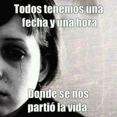 O cuando empezamos a vivir realmente!! I Miss My Mom, I Miss You, Mom And Dad, Love Phrases, Angels In Heaven, My True Love, Condolences, Spanish Quotes, Nostalgia