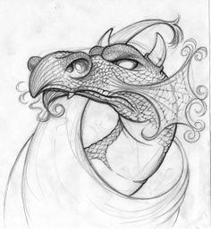 Dragon studies by rigo velez on Behance Pencil Art Drawings, Animal Drawings, Drawing Animals, Half Skull, Dragon Sketch, Dragon Design, Body Poses, Painting Process, Dragon Art