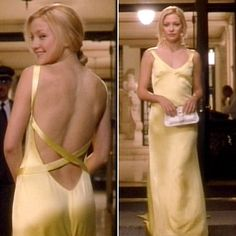 Yellow dress worn by Kate Hudson in How to Lose a Guy in 10 Days.