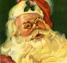 Los Angeles Santa Claus Christmas Orange Citrus Fruit Crate Box Label Art Print., via Etsy.