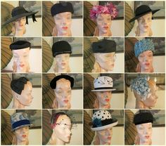 Lot of 16 Vintage Lady's Hats  1950s 1960s by dandelionvintage, $115.00