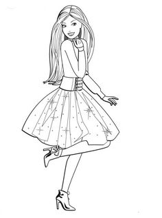 Barbie Coloring Pages, Horse Coloring Pages, Coloring Pages For Girls, Cute Coloring Pages, Disney Coloring Pages, Coloring Pages To Print, Coloring Books, Barbie Colouring, Girly Drawings