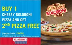 Find all the active Dominos Pizza coupons and discount codes at CouponRaja. Dominos Pizza coupon codes allows you to get an exclusive discounts on various mouth watering range of pizzas.