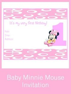 15 Best Kinzey 1st Birthday Images On Pinterest Minnie Mouse Party