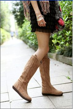 Flat Suede boots <3