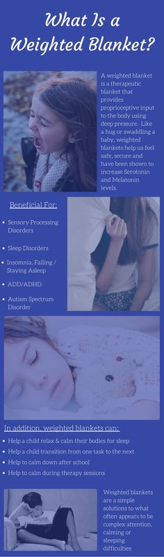Child's Weighted blankets have been found to aid children who suffer from sensory processing disorder, ADHD, autism, restless leg syndrome, and more. #sensory #specialneeds #autism #ASD #SPD #kids #affiliatelink