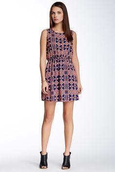 Back Cutout Printed Dress by Peach Love Cream California on @nordstrom_rack
