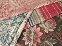 Wonderful pieces of timeless French fabrics ~ beautiful tones and textures for cutting projects and reworking ~