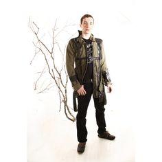 No 2 Khaki Green Coat  SAMURAI Ninja Urban by lummedesigns on Etsy, €506.00