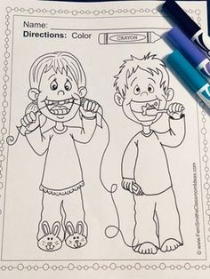 Dental Health Fun Coloring Pages - 20 Pages of Dental Health Coloring Fun - February - Health Activities, Fun Activities, Cool Coloring Pages, Coloring Books, Dental Health Month, Parent Volunteers, Classroom Management Tips, Second Grade Teacher, Printable Coloring