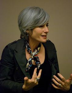 Eva Grayzel - I love her cut! This would be great for growing out a pixie.