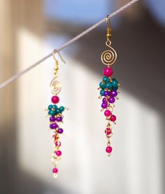 colorful, bright, cheerful earrings by Sabi Krabi