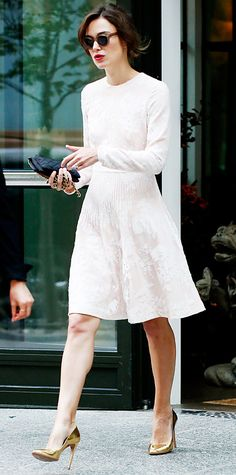 Keira Knightley... I could create an entire board dedicated entirely to her fashion sense, I love everything she wears... maybe I will.