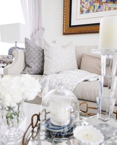 @classyglamliving throwing out some effortless #MyHomeSense style with these patterned cushions and throw, not to mention the glam table styling!