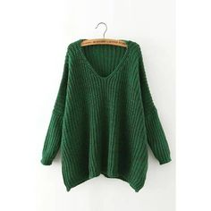 Yoins Yoins V Neck Drop Shoulder Sweater ($23) ❤ liked on Polyvore featuring tops, sweaters, green, shirts & tops, green top, v-neck shirts, button down sweater, green v neck shirt and button up sweater