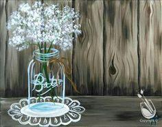 Ball jar painting