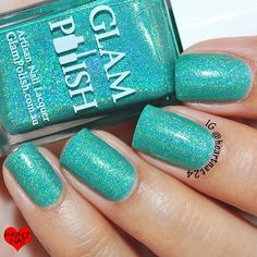 Firework from The Gleek Collection, nine gleeful bright holos inspired by the TV series GLEE! Launching in July 3rd USA (July 4th Aus & France) from www.glampolish.com.au close up by @heartnat24